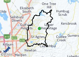 Location of City of Tea Tree Gully