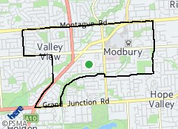 Location of Modbury