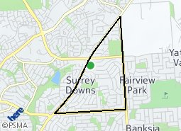 Location of Surrey Downs