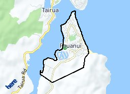 Location of Pauanui
