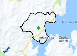 Location of Whitianga