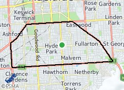 Location of City of Unley