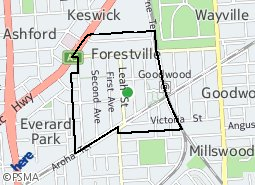 Location of Forestville