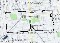 Location of Millswood