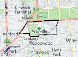 Location of Wayville
