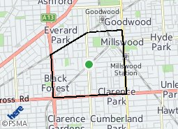 Location of Goodwood South Ward