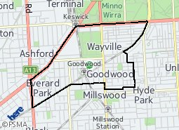 Location of Goodwood Ward