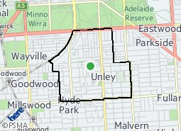 Location of Unley Ward