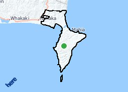 Location of Mahia
