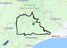 Location of Maungataniwha - Tuai