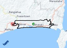Location of Nuhaka - Whakaki