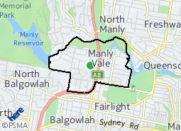 Location of Manly Vale