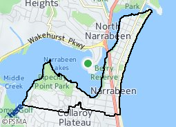 Location of Narrabeen