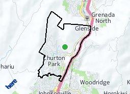 Location of Churton Park - Glenside