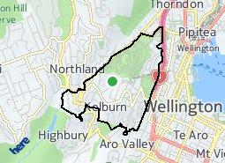 Location of Kelburn