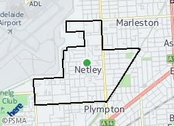 Location of North Plympton - Netley