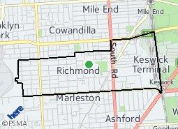 Location of Richmond - West Richmond - Mile End South