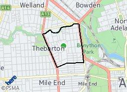 Location of Thebarton