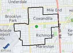 Location of Hilton Ward