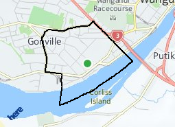 Location of Gonville South