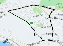 Location of Gonville West