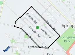 Location of Springvale West