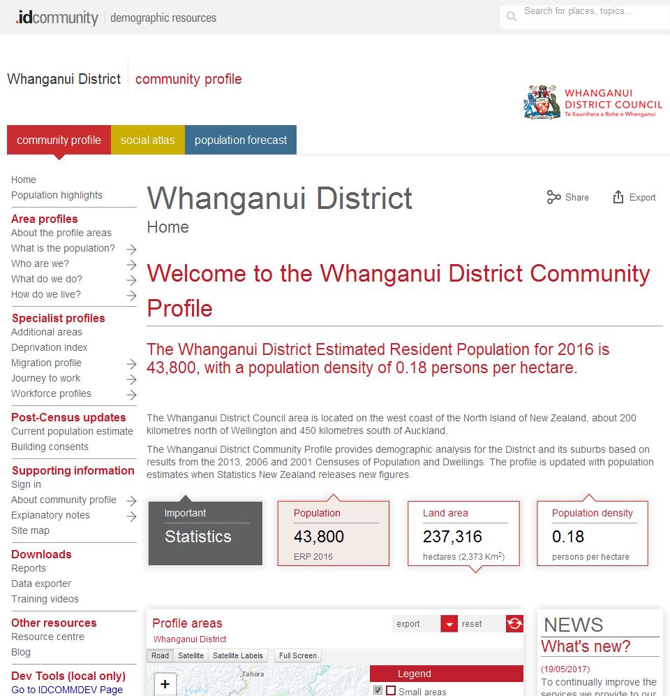 Whanganui District