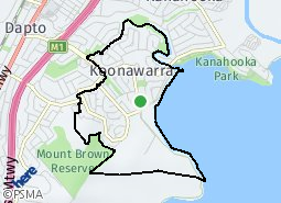 Location of Koonawarra