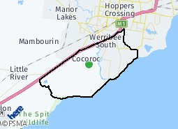 Location of Cranbourne
