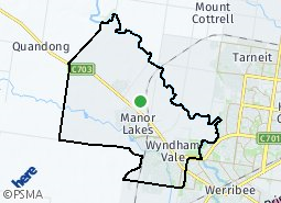 Location of Cranbourne North