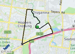 Location of Cranbourne West