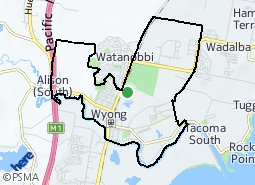 Location of Wyong