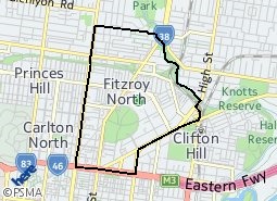 Location of Fitzroy North