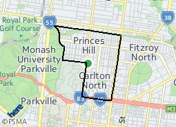 Location of Carlton North - Princes Hill