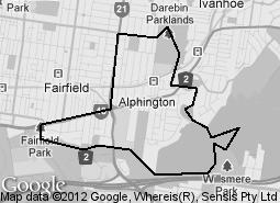 Location of Elizabeth Park